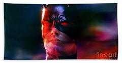 Ben Affleck Daredevil Beach Towel by Marvin Blaine
