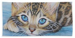 Bengal Kitten Beach Towel