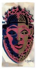 Benin Mask Beach Towel by Everett Spruill