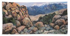 Beach Towel featuring the painting Benton by Donna Tucker