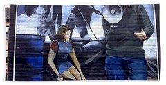 Bernadette Devlin Mural Beach Sheet