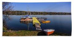 Berth For Yachts At Manitou Lake Beach Towel