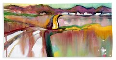 Beach Sheet featuring the painting Bethel Road by Teresa Ascone