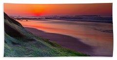 Between Day And Night Beach Sheet by Edgar Laureano