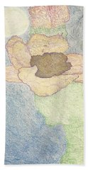 Beach Towel featuring the drawing Between Dreams by Kim Pate