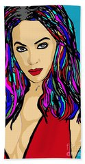 Beyonce Crazy In Love Beach Towel by Saundra Myles
