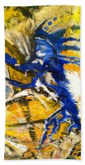 Beach Towel featuring the painting Beyond Boundaries by Kicking Bear  Productions