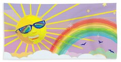 Beach Towel featuring the mixed media Beyond The Rainbow by J L Meadows