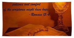 Bible By Candlelight Beach Sheet