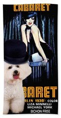 Bichon Frise Art - Cabaret Movie Poster Beach Sheet