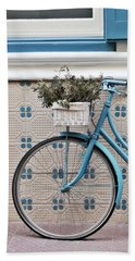 Vintage Bicycle Photography - Bicycles Are Not Only For Summer Beach Towel
