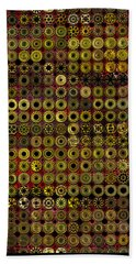 Biding Time In The Gold Flocked Basement Twixt Death And Funeral Beach Towel