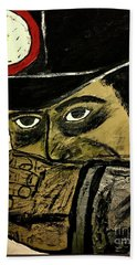 Beach Towel featuring the painting Big Bad John Coal Miner by Jeffrey Koss