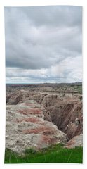 Beach Towel featuring the photograph Big Badlands Overlook by Kyle Hanson