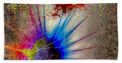 Beach Towel featuring the digital art Big Bang by Eleni Mac Synodinos