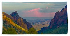 Big Bend Texas From The Chisos Mountain Lodge Beach Sheet