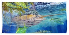 Big Blue Hunting In The Weeds Beach Towel