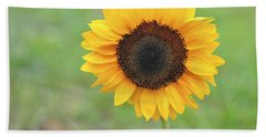 Big Bright Yellow Colorful Sunflower Art Print Beach Towel