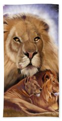 Third In The Big Cat Series - Lion Beach Towel