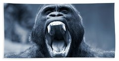 Big Gorilla Yawn Beach Towel