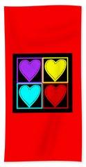 Big Hearts I Beach Sheet