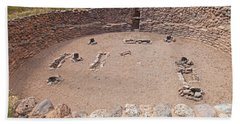 Big Kiva Bandelier National Monument Beach Sheet