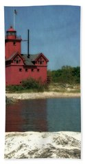 Big Red Holland Michigan Lighthouse Beach Towel