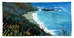 Big Sur Coastline Beach Sheet by Alice Leggett