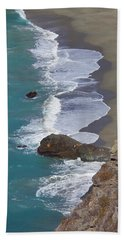 Big Sur Surf Beach Towel by Art Block Collections