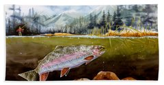 Big Thompson Trout Beach Towel by Craig T Burgwardt