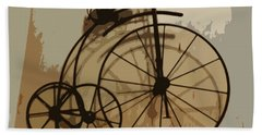 Beach Towel featuring the photograph Big Wheel Trike by Ecinja Art Works