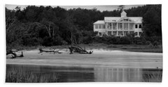 Big White House Beach Towel by Cynthia Guinn