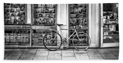 Bike At Palmer Square Book Store In Princeton Beach Sheet