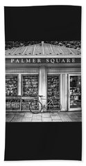 Bike At Palmer Square Book Store In Princeton Beach Towel