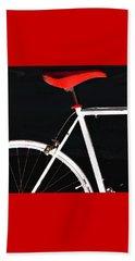 Bike In Black White And Red No 1 Beach Towel