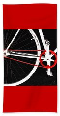 Bike In Black White And Red No 2 Beach Towel