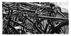 Bike Parking In Switzerland Beach Towel