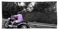 Biker Beach Towel by Gandz Photography