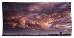 Billowing Clouds Beach Sheet