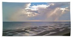 Biloxi Sandbar  Beach Towel by Deborah Lacoste