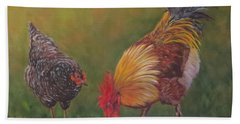 Biltmore Chickens  Beach Towel