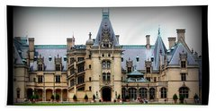 Beach Towel featuring the photograph Biltmore Estate by Patti Whitten
