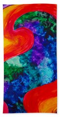 Bird Form I Beach Towel by Michele Myers