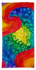 Bird Form II Beach Towel by Michele Myers