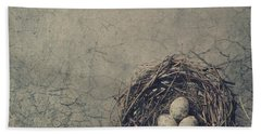 Bird Nest Beach Towel