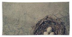 Bird Nest Beach Towel