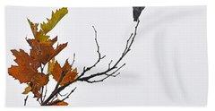 Bird Of Autumn Beach Towel
