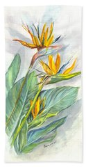 Bird Of Paradise Beach Towel by Carol Wisniewski