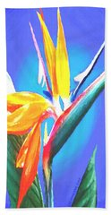 Bird Of Paradise Flower Beach Towel