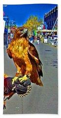 Bird Of Prey At Boat Show 2013 Beach Towel